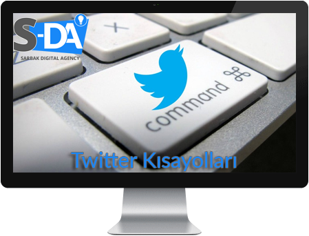 twitter klavye, twitter kısayollar, twitter keyboard,
